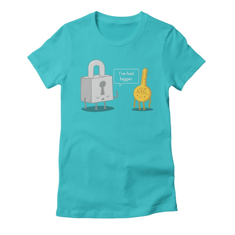 Locked Out Women's Fitted T-Shirt by Jake Friedman