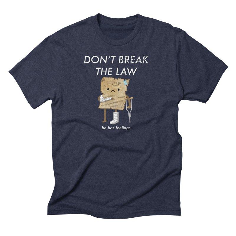 Breaking The Law Men's Triblend T-shirt by Jake Friedman