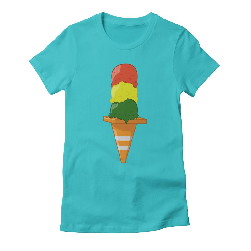 Traffic Cone Women's Fitted T-Shirt by Jake Friedman