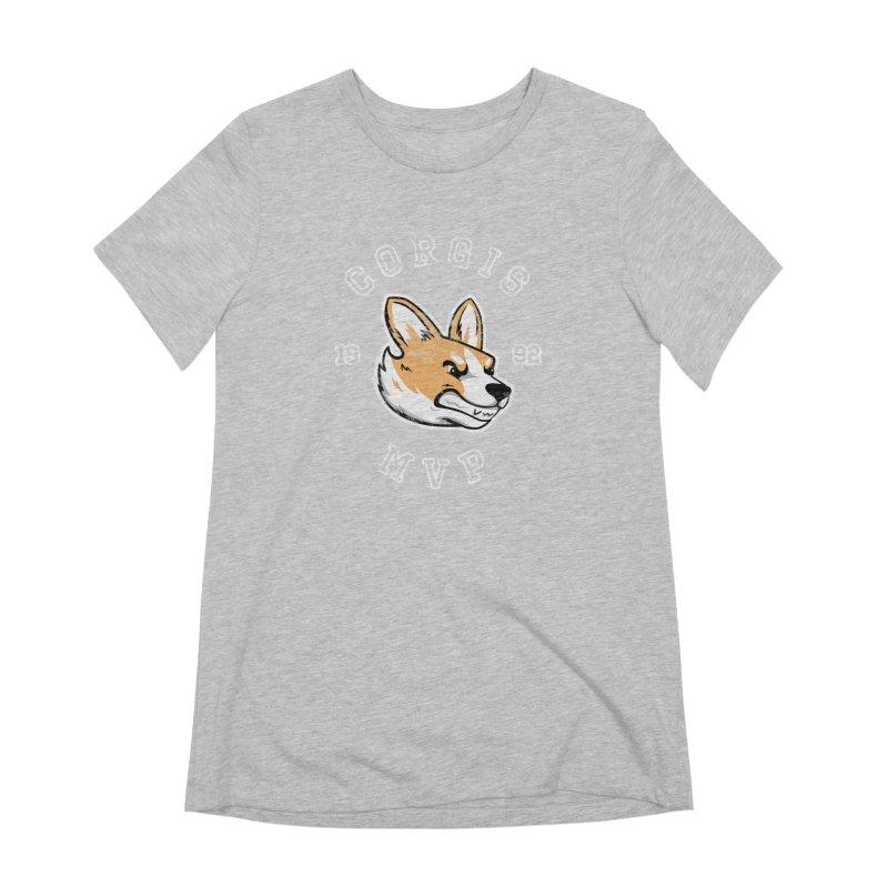 Varsity Corgi Women's Extra Soft T-Shirt by Jake Giddens' Shop