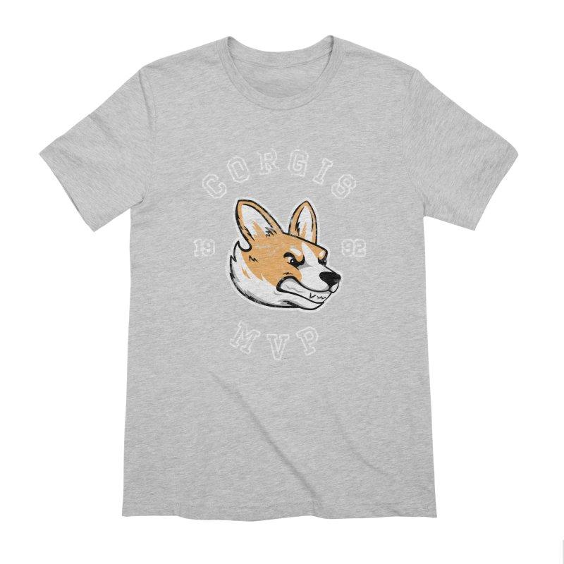 Varsity Corgi Men's Extra Soft T-Shirt by Jake Giddens' Shop