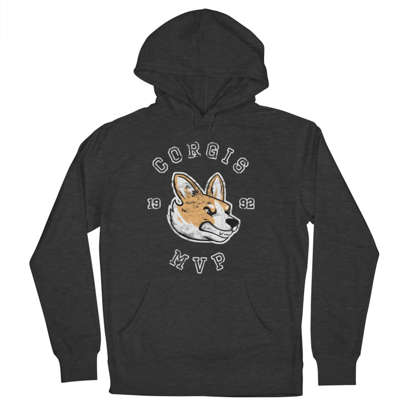 Varsity Corgi Women's French Terry Pullover Hoody by Jake Giddens' Shop