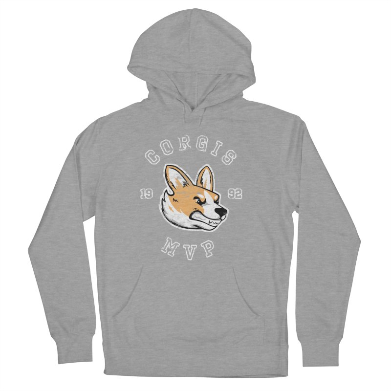 Varsity Corgi Men's French Terry Pullover Hoody by Jake Giddens' Shop