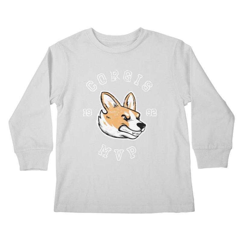 Varsity Corgi Kids Longsleeve T-Shirt by Jake Giddens' Shop