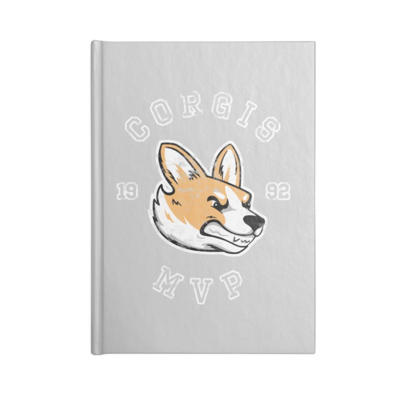 Varsity Corgi Accessories Lined Journal Notebook by Jake Giddens' Shop