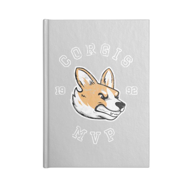 Varsity Corgi Accessories Blank Journal Notebook by Jake Giddens' Shop
