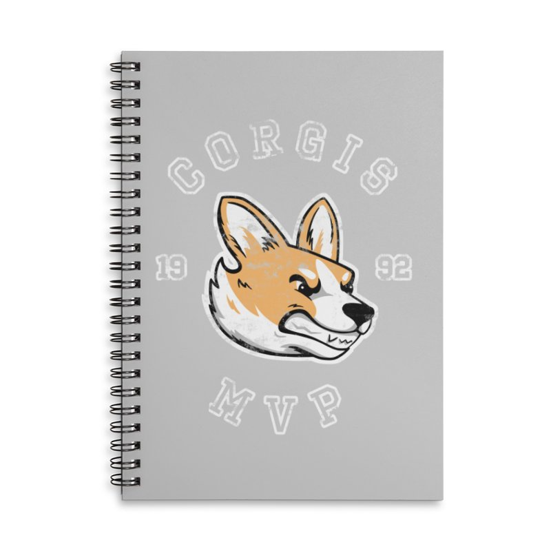 Varsity Corgi Accessories Lined Spiral Notebook by Jake Giddens' Shop