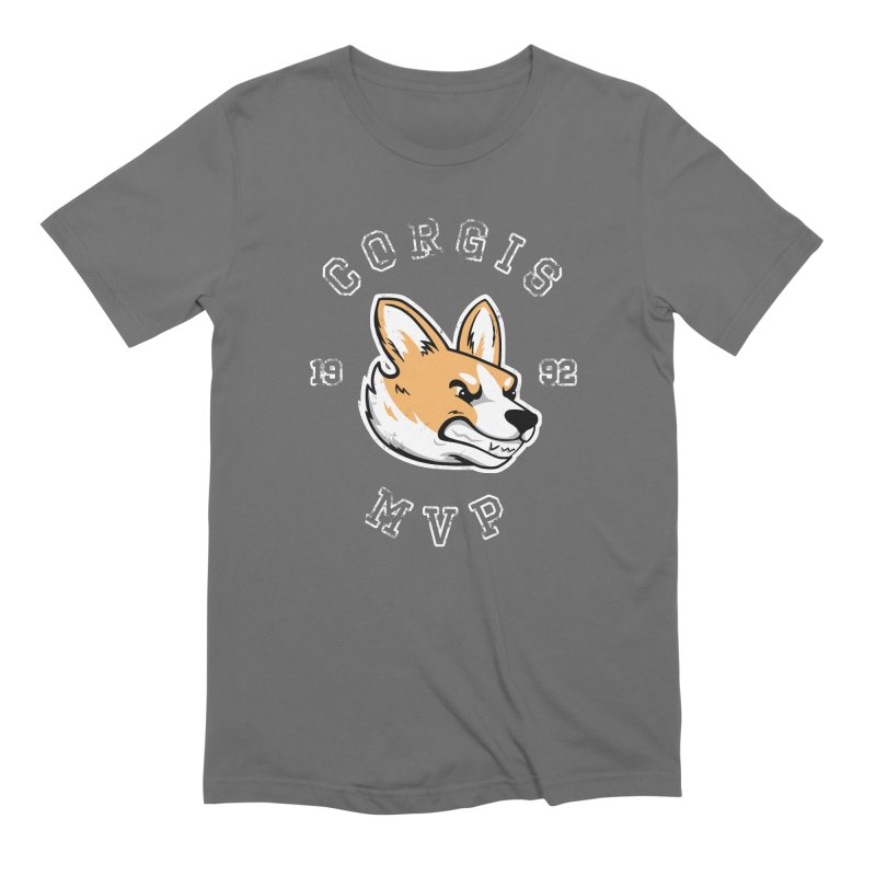 Varsity Corgi Men's T-Shirt by Jake Giddens' Shop