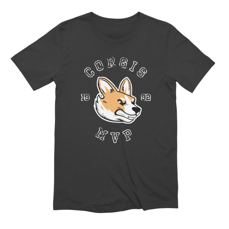 Varsity Corgi Men's Extra Soft T-Shirt by Jake Giddens' Shop