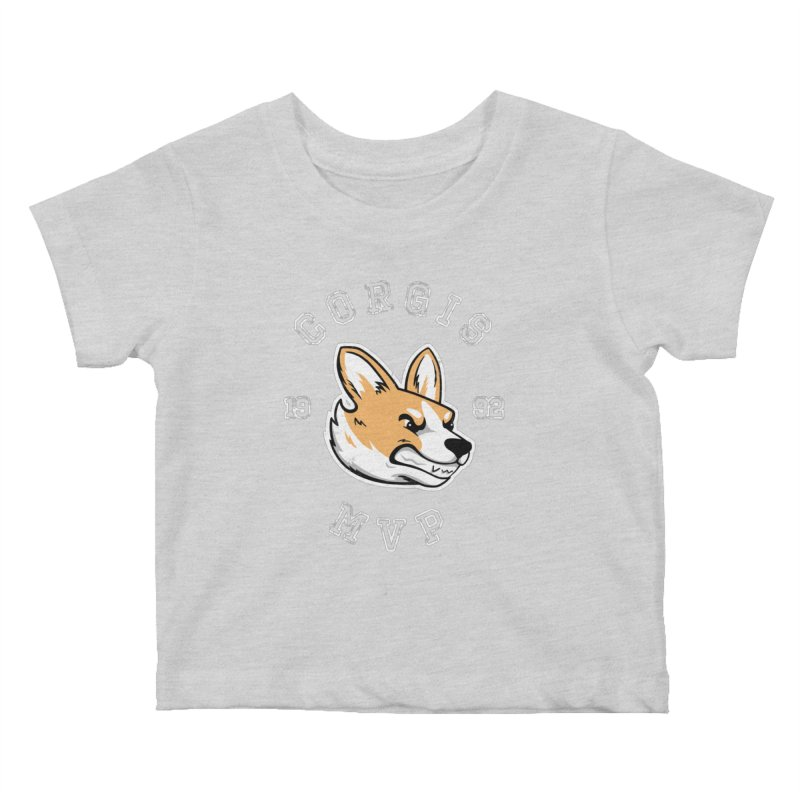 Varsity Corgi Kids Baby T-Shirt by Jake Giddens' Shop