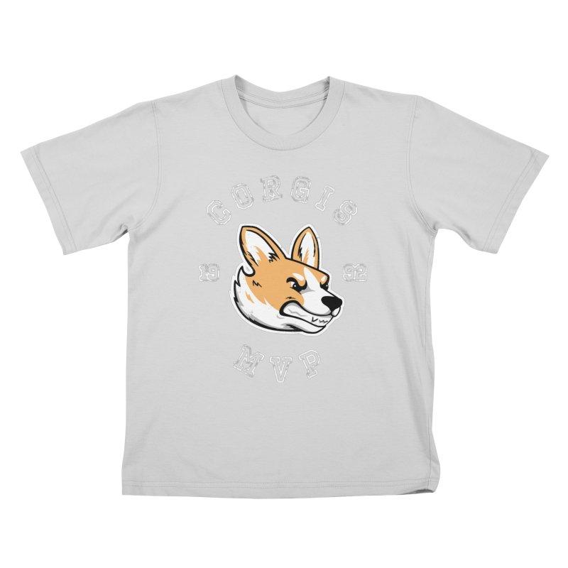 Varsity Corgi Kids T-Shirt by Jake Giddens' Shop