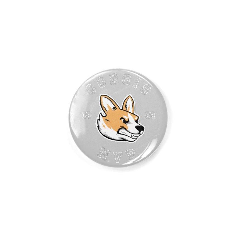 Varsity Corgi Accessories Button by Jake Giddens' Shop