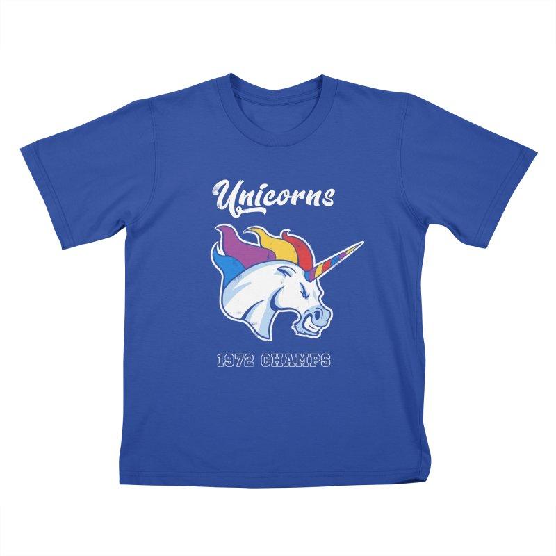 Unicorns Varsity Kids T-Shirt by Jake Giddens' Shop