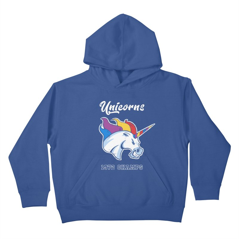 Unicorns Varsity Kids Pullover Hoody by Jake Giddens' Shop