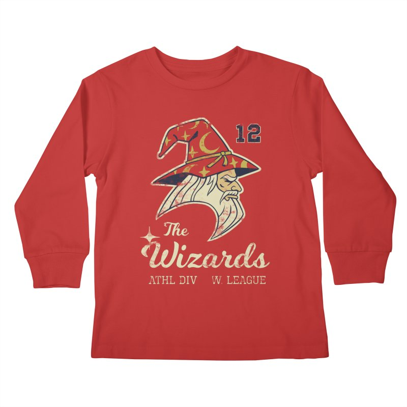 Wizards Varsity Kids Longsleeve T-Shirt by Jake Giddens' Shop