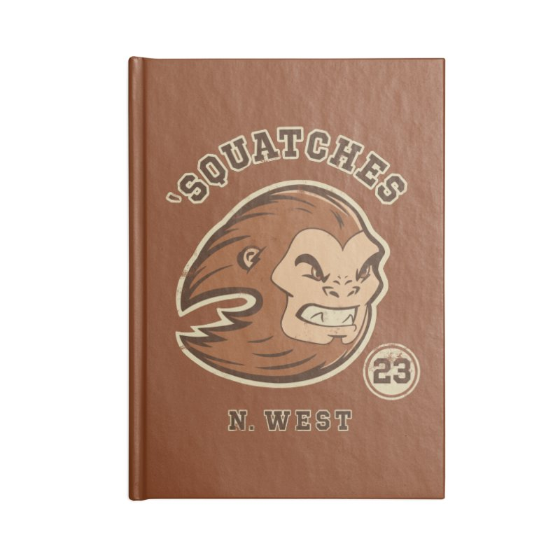 Sasquatch Varsity Accessories Lined Journal Notebook by Jake Giddens' Shop