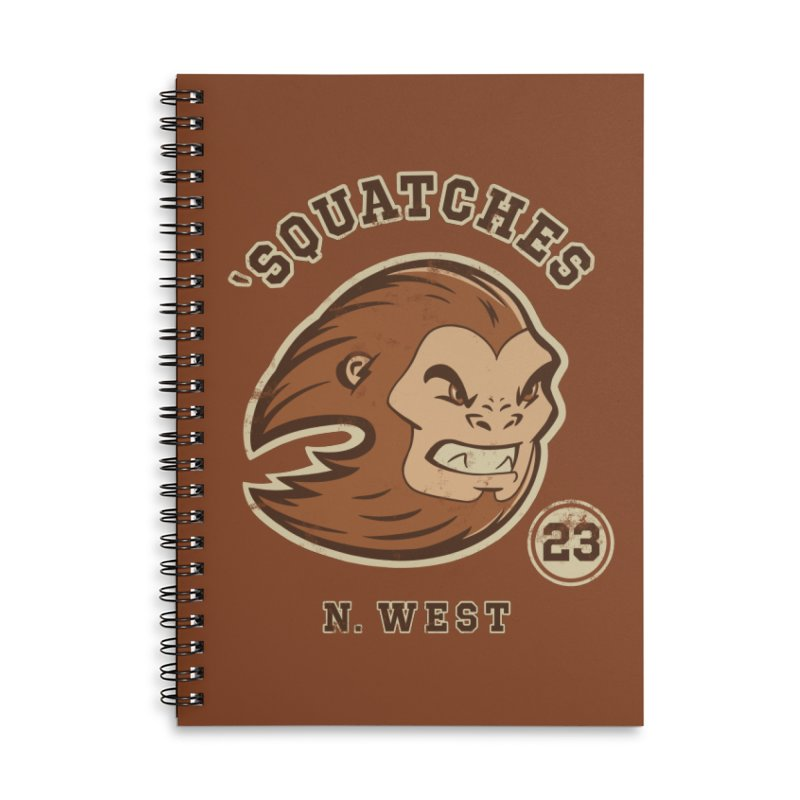 Sasquatch Varsity Accessories Lined Spiral Notebook by Jake Giddens' Shop