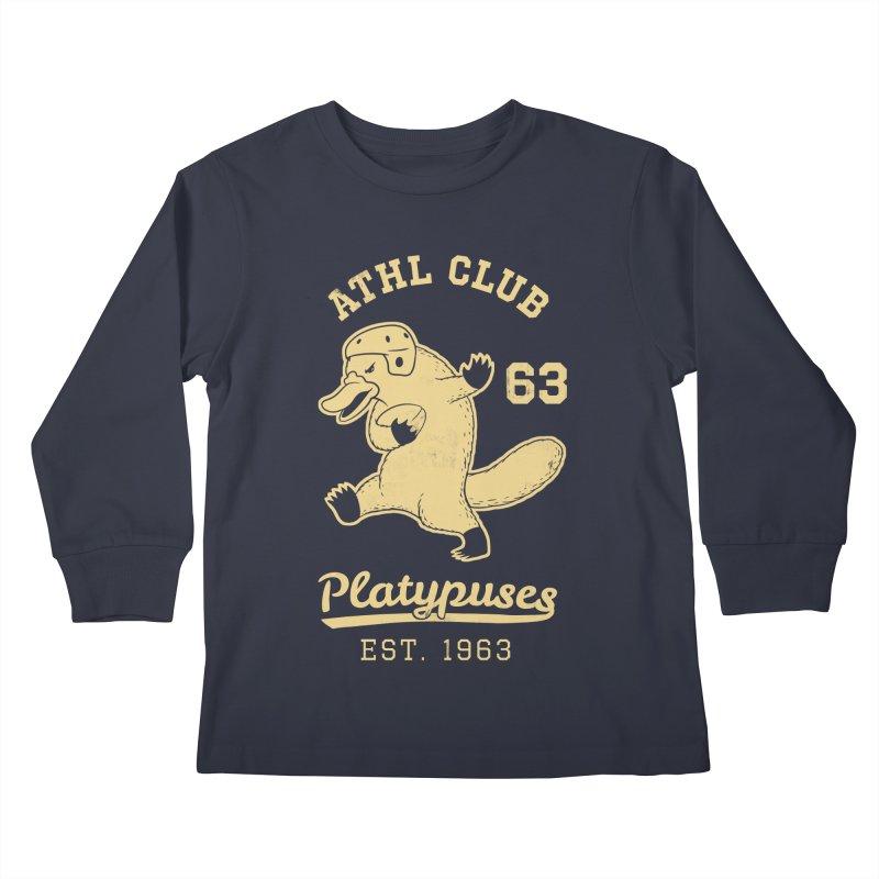 Platypus Varsity Kids Longsleeve T-Shirt by Jake Giddens' Shop