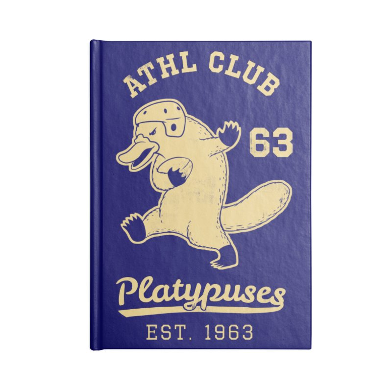 Platypus Varsity Accessories Lined Journal Notebook by Jake Giddens' Shop