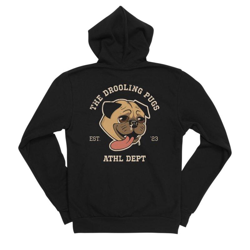 The Drooling Pugs Women's Sponge Fleece Zip-Up Hoody by Jake Giddens' Shop