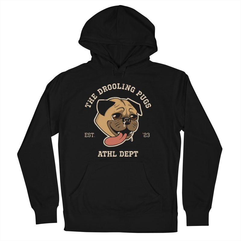 The Drooling Pugs Men's French Terry Pullover Hoody by Jake Giddens' Shop