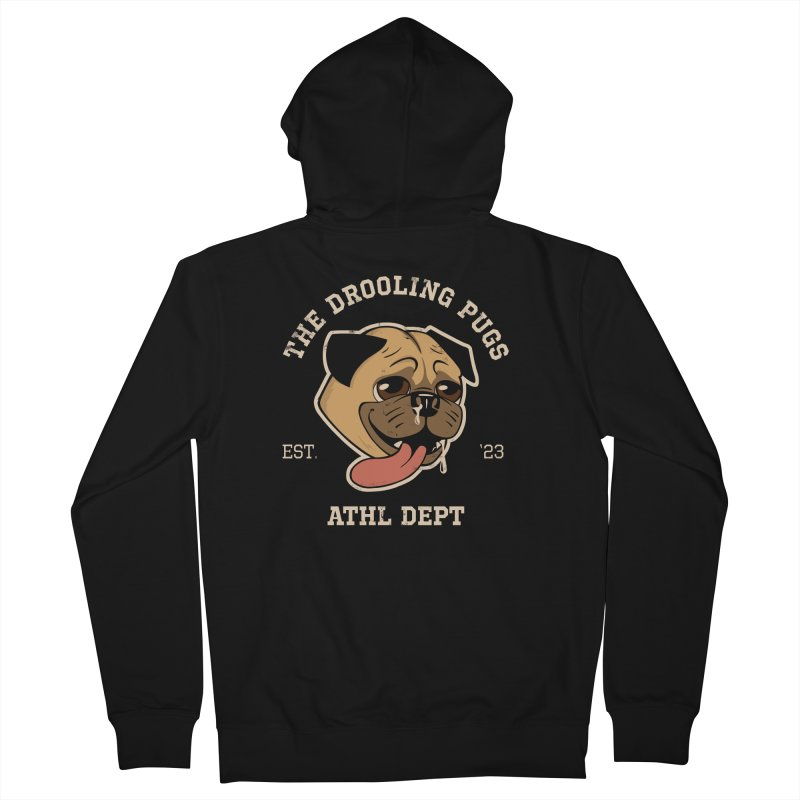 The Drooling Pugs Men's French Terry Zip-Up Hoody by Jake Giddens' Shop