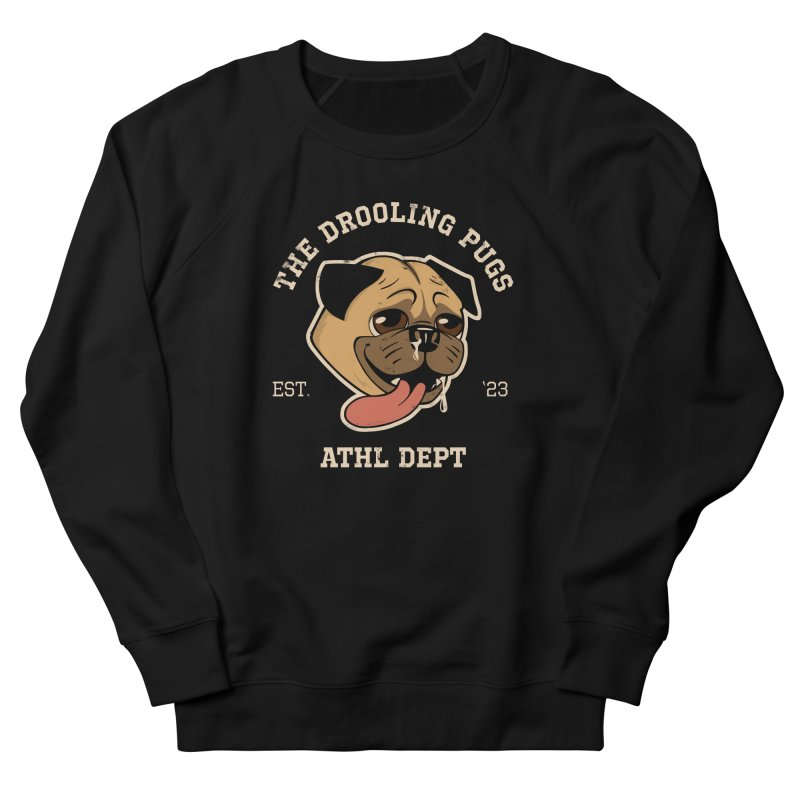 The Drooling Pugs Men's French Terry Sweatshirt by Jake Giddens' Shop