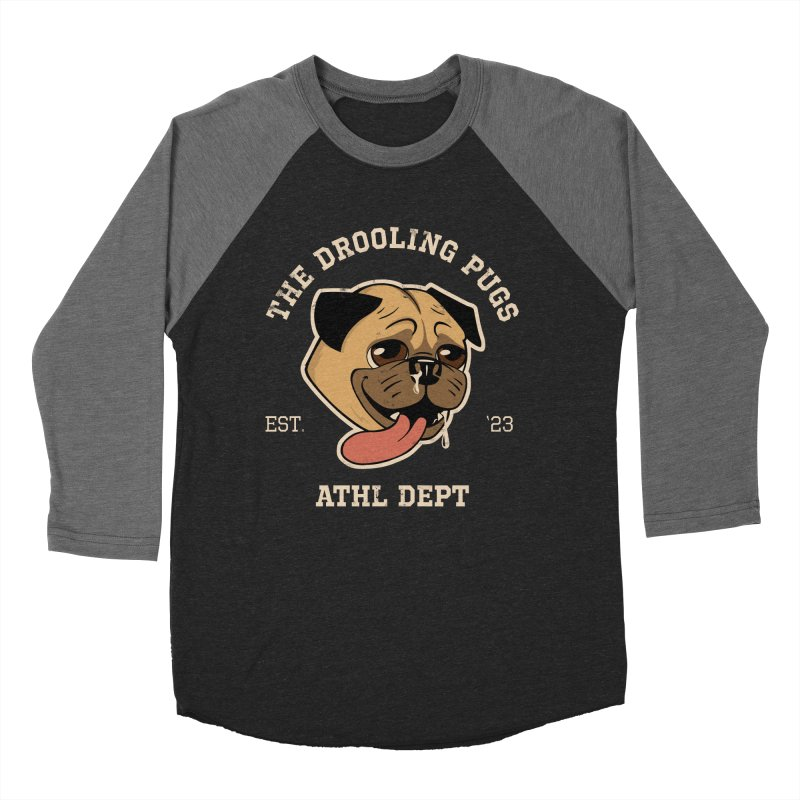 The Drooling Pugs Women's Baseball Triblend Longsleeve T-Shirt by Jake Giddens' Shop
