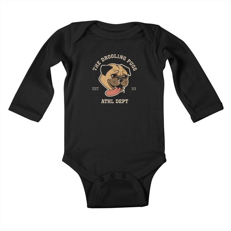 The Drooling Pugs Kids Baby Longsleeve Bodysuit by Jake Giddens' Shop