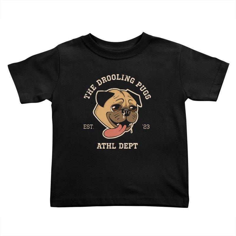 The Drooling Pugs Kids Toddler T-Shirt by Jake Giddens' Shop
