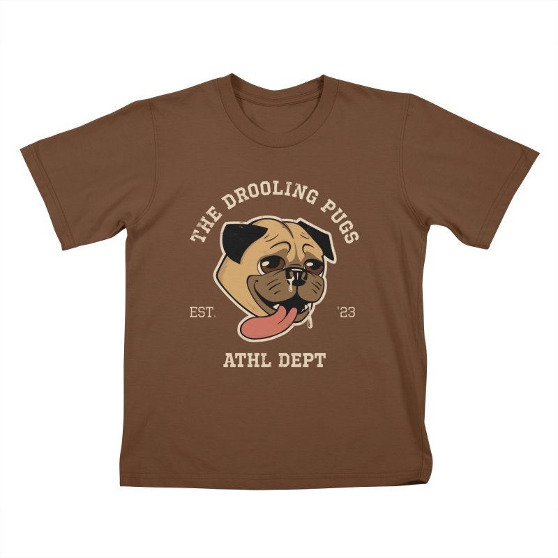 The Drooling Pugs Kids T-Shirt by Jake Giddens' Shop