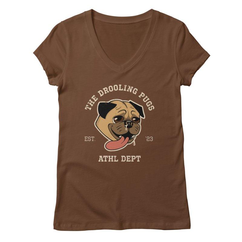 The Drooling Pugs Women's Regular V-Neck by Jake Giddens' Shop