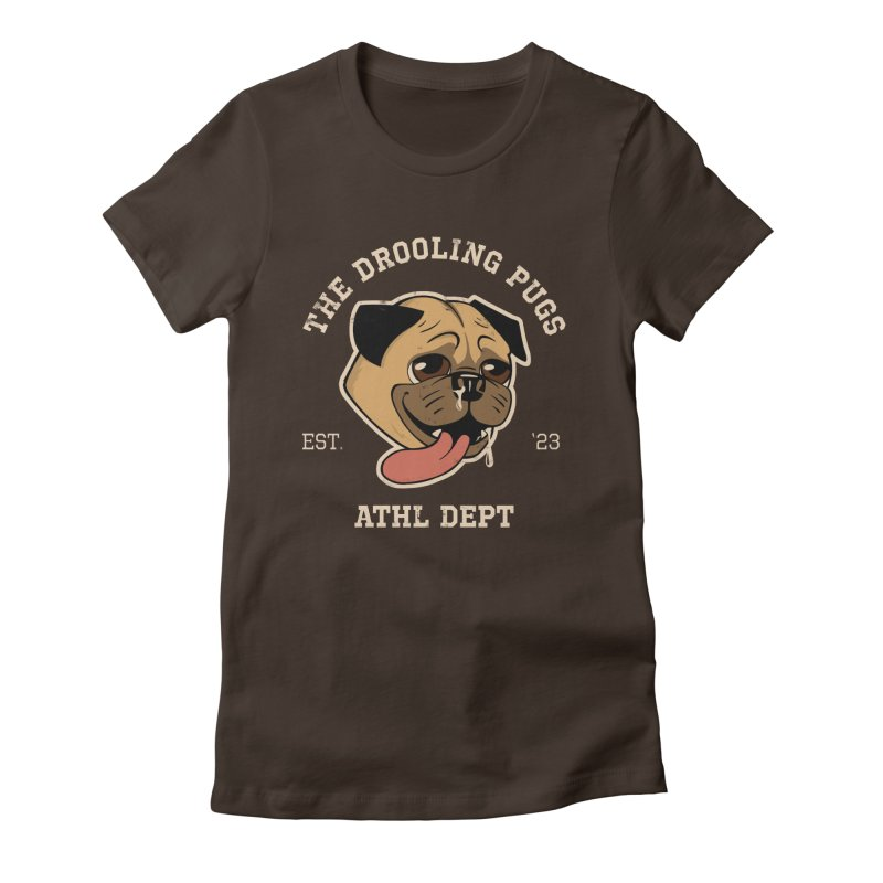 The Drooling Pugs Women's Fitted T-Shirt by Jake Giddens' Shop