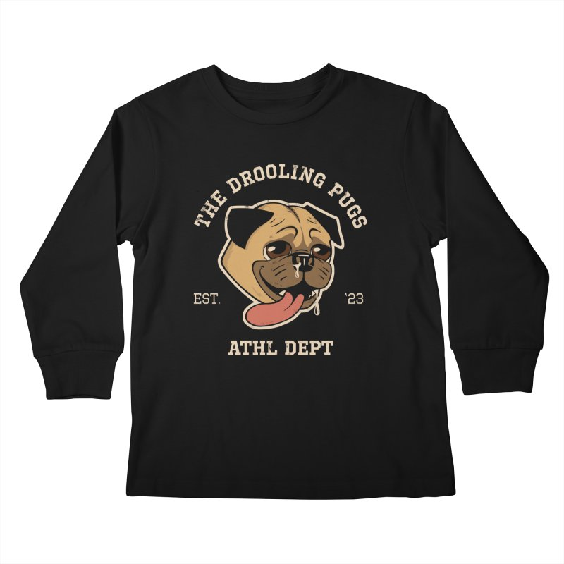 The Drooling Pugs Kids Longsleeve T-Shirt by Jake Giddens' Shop