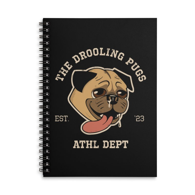 The Drooling Pugs Accessories Lined Spiral Notebook by Jake Giddens' Shop