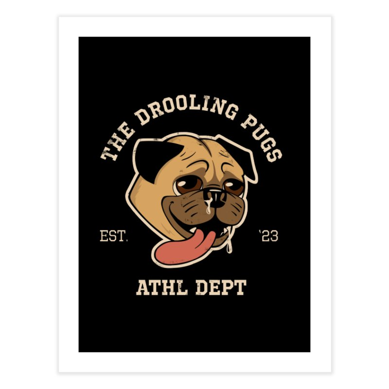 The Drooling Pugs Home Fine Art Print by Jake Giddens' Shop