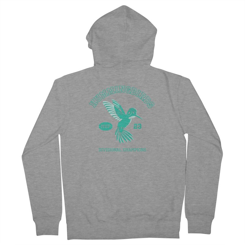Hummingbird Varsity Women's French Terry Zip-Up Hoody by Jake Giddens' Shop