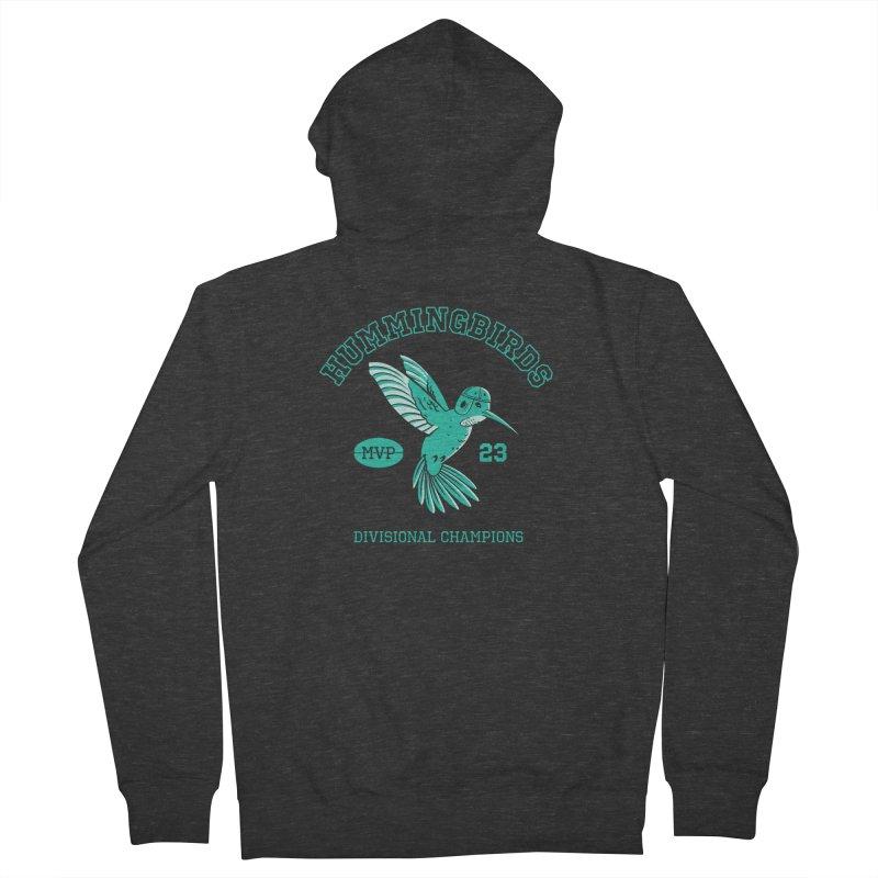 Hummingbird Varsity Men's French Terry Zip-Up Hoody by Jake Giddens' Shop