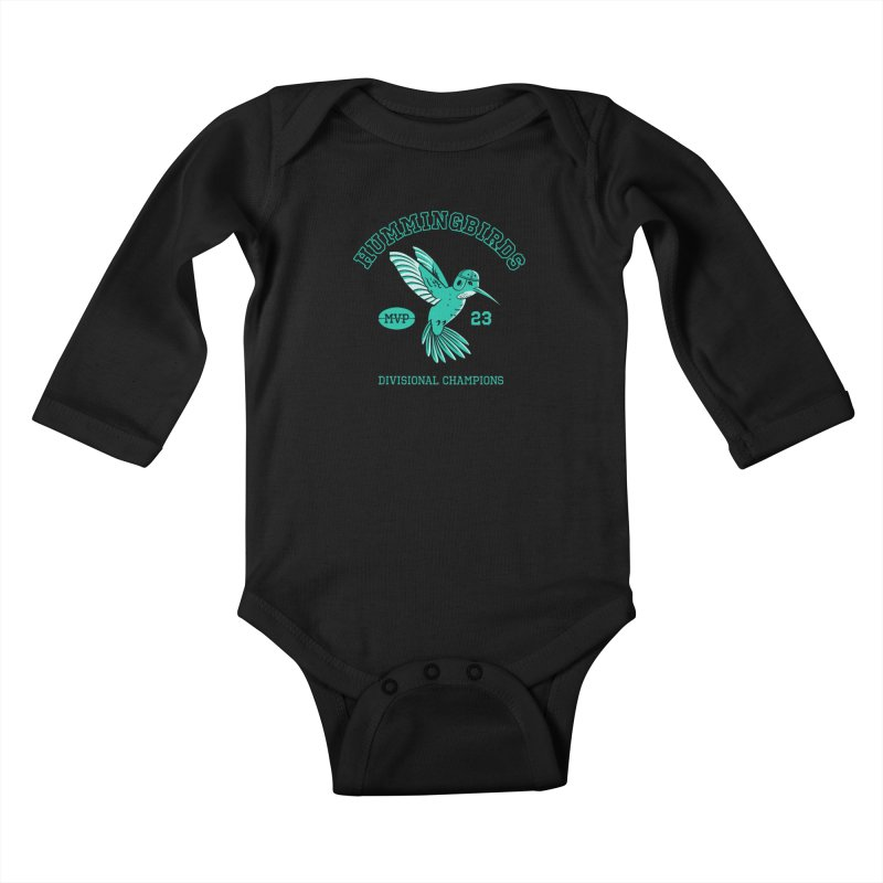 Hummingbird Varsity Kids Baby Longsleeve Bodysuit by Jake Giddens' Shop