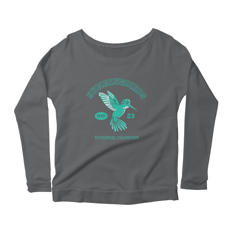Hummingbird Varsity Women's Scoop Neck Longsleeve T-Shirt by Jake Giddens' Shop