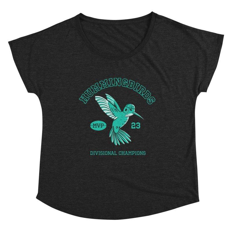 Hummingbird Varsity Women's Dolman Scoop Neck by Jake Giddens' Shop