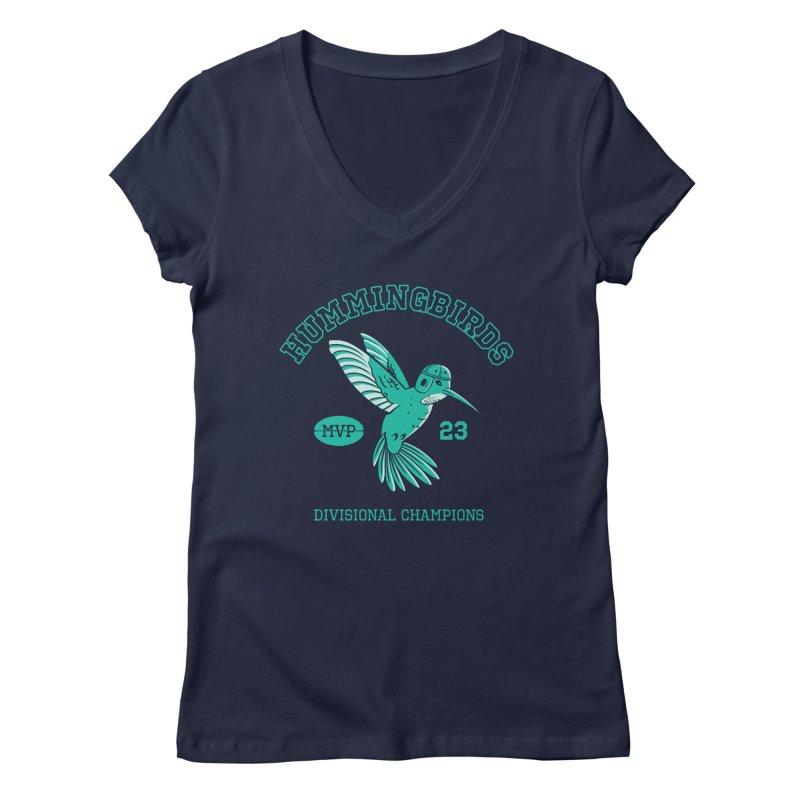 Hummingbird Varsity Women's Regular V-Neck by Jake Giddens' Shop