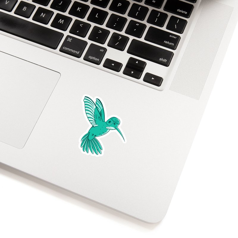 Hummingbird Varsity Accessories Sticker by Jake Giddens' Shop
