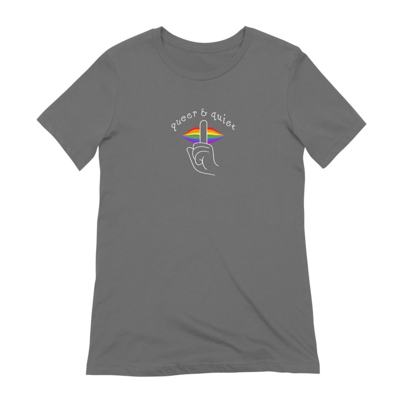 Queer & Quiet Women's Extra Soft T-Shirt by Jake Giddens' Shop