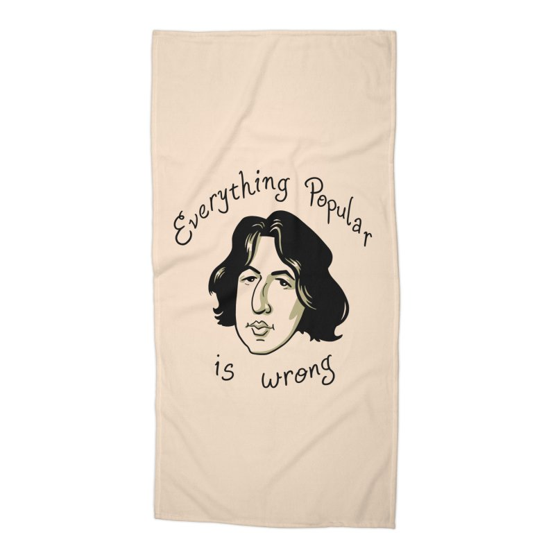 Everything Popular Is Wrong Accessories Beach Towel by Jake Giddens' Shop