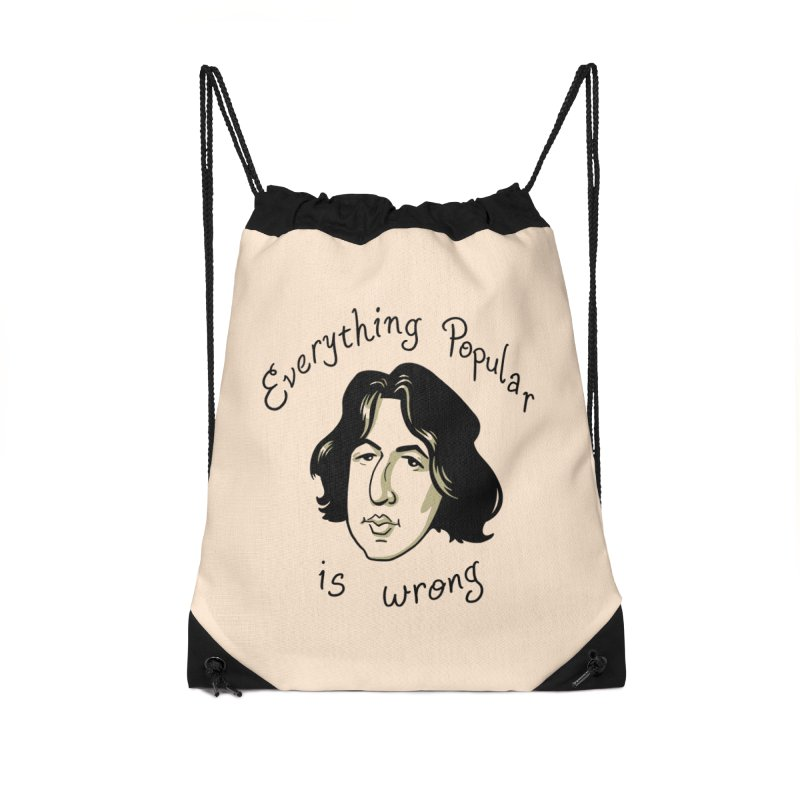 Everything Popular Is Wrong Accessories Drawstring Bag Bag by Jake Giddens' Shop