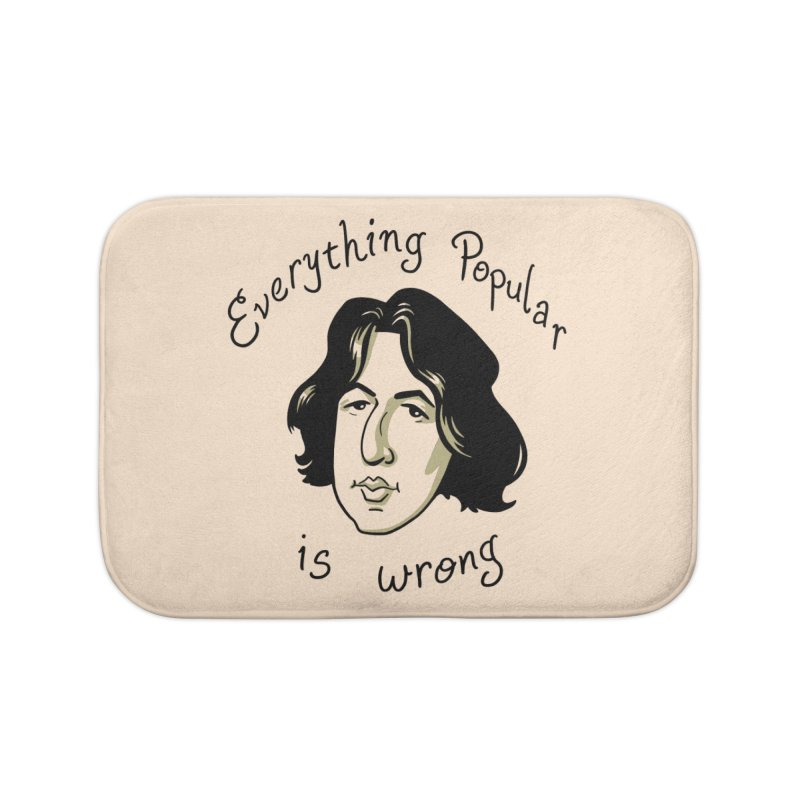 Everything Popular Is Wrong Home Bath Mat by Jake Giddens' Shop