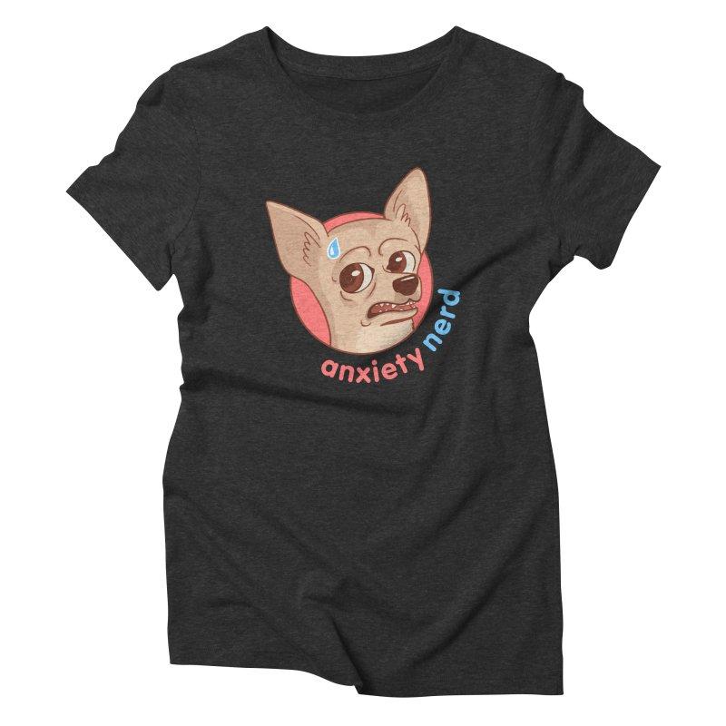 Anxiety Nerd Women's Triblend T-Shirt by Jake Giddens' Shop