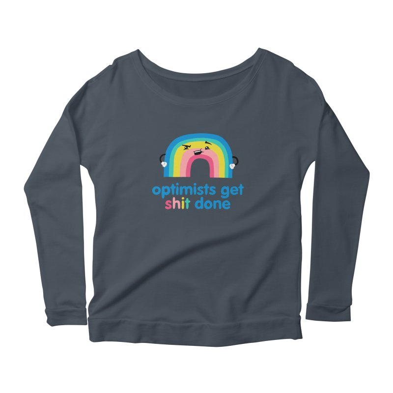 Optimists Women's Scoop Neck Longsleeve T-Shirt by Jake Giddens' Shop