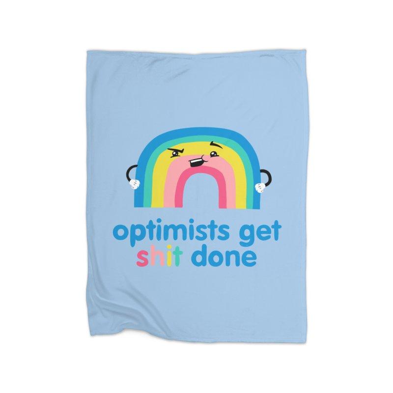 Optimists Home Fleece Blanket Blanket by Jake Giddens' Shop